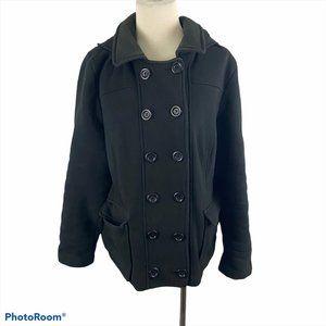 G21 Black Pea Coat